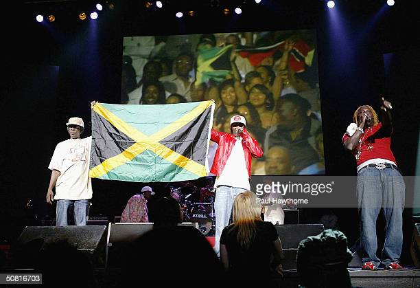 Singer Elephant Man performs during the 25th Anniversary of VP Records show at Radio City Music Hall May 8 2004 in New York City