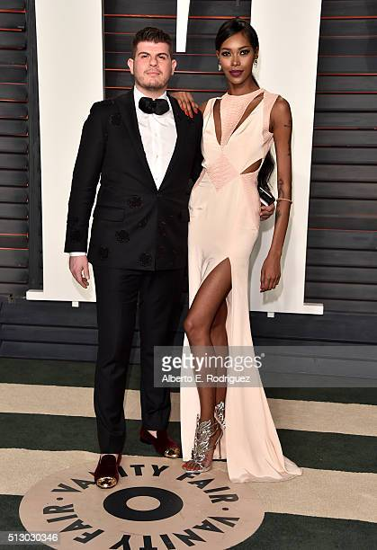 Singer Eli 'Henree' Mizrahi and model Jessica White attend the 2016 Vanity Fair Oscar Party hosted By Graydon Carter at Wallis Annenberg Center for...