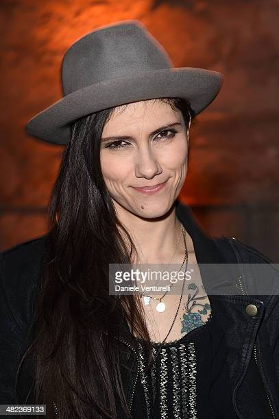 Singer Elisa attends Diesel FW14 Collection Presentation Show at Tese di San Cristoforo on April 3 2014 in Venice Italy