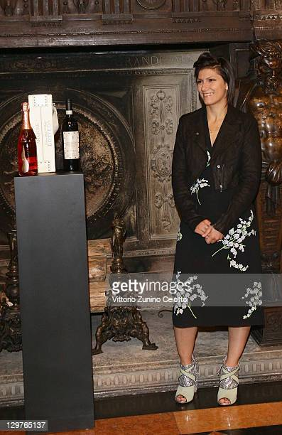 Singer Elisa attends the Cocktail Per La Vita charity event at Museo Bagatti Valsecchi on October 20 2011 in Milan Italy