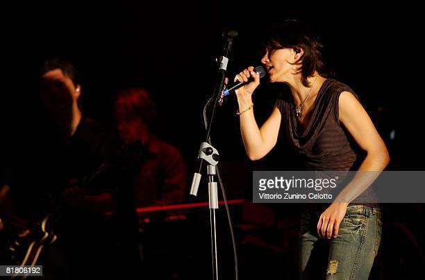 Singer Elisa performs live at Teatro Derby on July 2 2008 in Milan Italy