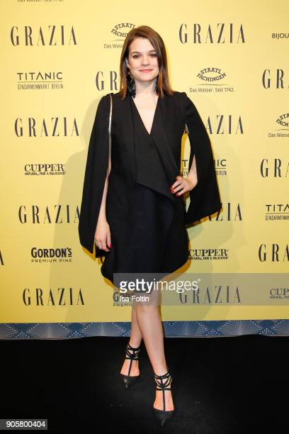 Singer Elisa Schmidt attends the Grazia Fashion Dinner at Titanic Deluxe Hotel on January 16 2018 in Berlin Germany