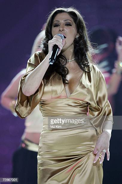 Singer Elissa performs during at the 2006 World Music Awards at Earls Court on November 15 2006 in London