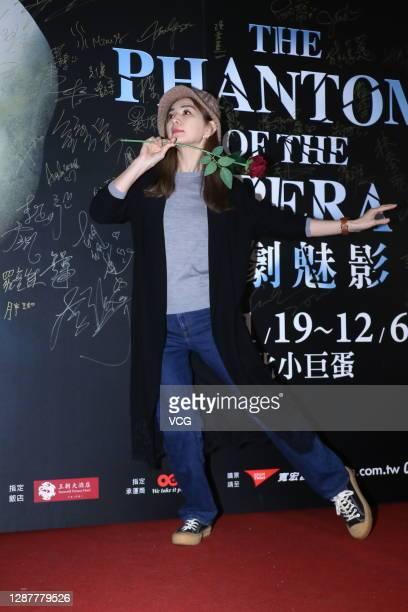 Singer Ella Chen Chia-hwa poses before watching 'The Phantom of the Opera' at the Taipei Arena on November 25, 2020 in Taipei, Taiwan of China.