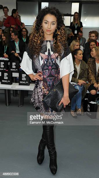 Singer Ella Eyre attends the JeanPierre Braganza show during London Fashion Week Spring/Summer 2016 on September 18 2015 in London England