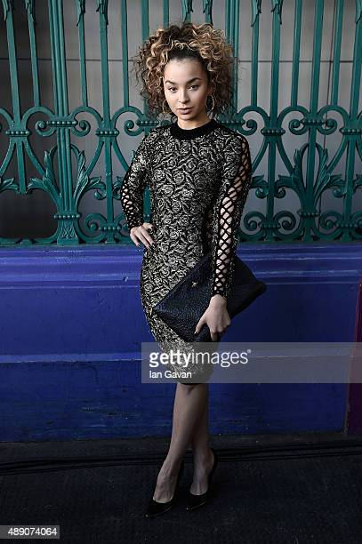 Singer Ella Eyre attends the Julien Macdonald show during London Fashion Week SS16 on September 19 2015 in London England
