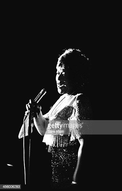 Singer Ella Fitzgerald performing on November 12 1969 in New York New York