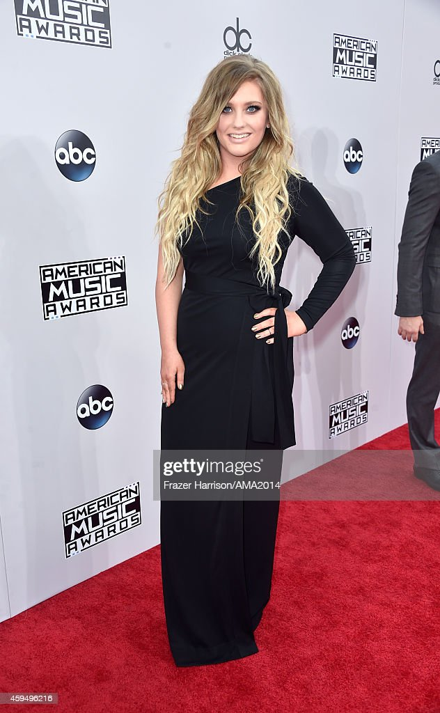 Singer Ella Henderson attends the 2014 American Music Awards at Nokia Theatre L.A. Live on November 23, 2014 in Los Angeles, California.