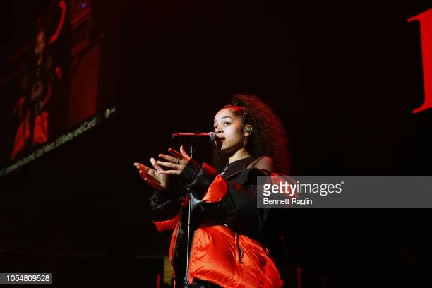 Singer Ella Mai performs at Power 1051's Powerhouse 2018 at Prudential Center on October 28 2018 in Newark New Jersey