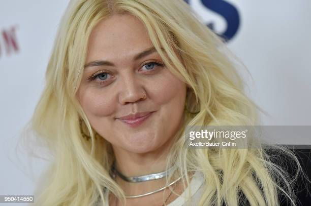 Singer Elle King arrives at the 25th Annual Race to Erase MS Gala at The Beverly Hilton Hotel on April 20 2018 in Beverly Hills California