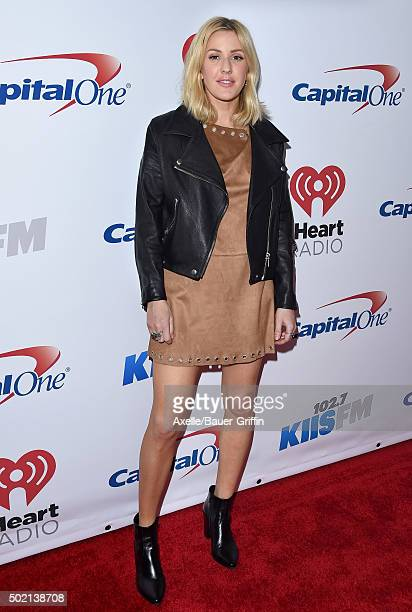 Singer Ellie Goulding arrives at 1027 KIIS FM's Jingle Ball 2015 presented by Capital One at Staples Center on December 4 2015 in Los Angeles...