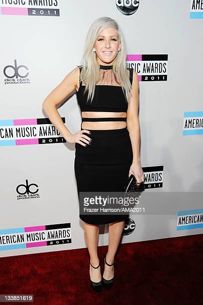 Singer Ellie Goulding arrives at the 2011 American Music Awards held at Nokia Theatre LA LIVE on November 20 2011 in Los Angeles California