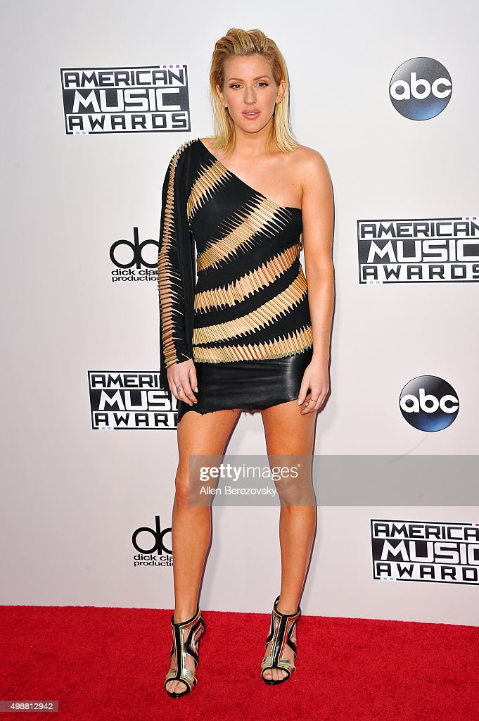 Singer Ellie Goulding arrives at the 2015 American Music Awards at Microsoft Theater on November 22, 2015 in Los Angeles, California.
