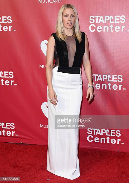 Singer Ellie Goulding arrives at the 2016 MusiCares Person of the Year honoring Lionel Richie at Los Angeles Convention Center on February 13 2016 in...