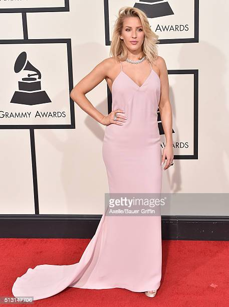 Singer Ellie Goulding arrives at The 58th GRAMMY Awards at Staples Center on February 15 2016 in Los Angeles California