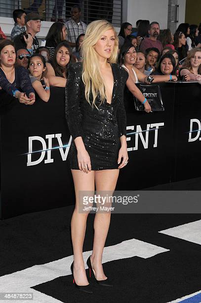 Singer Ellie Goulding arrives at the Los Angeles premiere of 'Divergent' at Regency Bruin Theatre on March 18 2014 in Los Angeles California