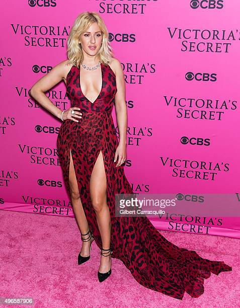 Singer Ellie Goulding attends 2015 Victoria's Secret Fashion Show at Lexington Armory on November 10 2015 in New York City