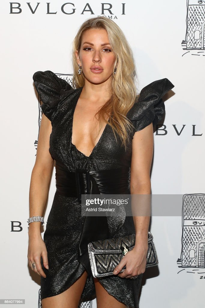 Singer Ellie Goulding attends Bulgari 5th Avenue flagship store opening on October 20, 2017 in New York City.