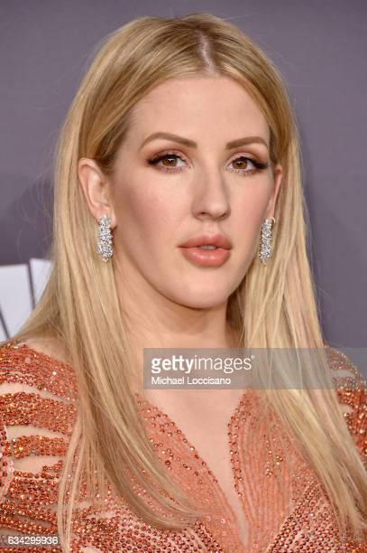 Singer Ellie Goulding attends the 19th Annual amfAR New York Gala at Cipriani Wall Street on February 8 2017 in New York City