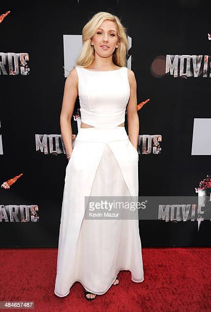 Singer Ellie Goulding attends the 2014 MTV Movie Awards at Nokia Theatre LA Live on April 13 2014 in Los Angeles California