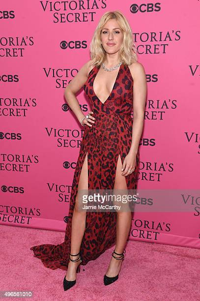 Singer Ellie Goulding attends the 2015 Victoria's Secret Fashion Show at Lexington Avenue Armory on November 10 2015 in New York City
