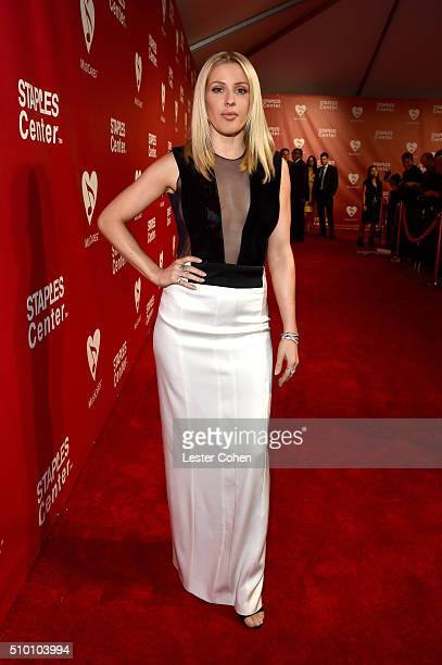 Singer Ellie Goulding attends the 2016 MusiCares Person of the Year honoring Lionel Richie at the Los Angeles Convention Center on February 13 2016...