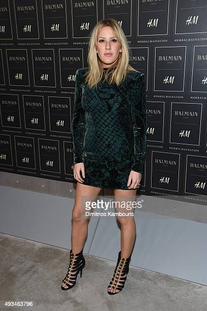 Singer Ellie Goulding attends the BALMAIN X HM Collection Launch at 23 Wall Street on October 20 2015 in New York City