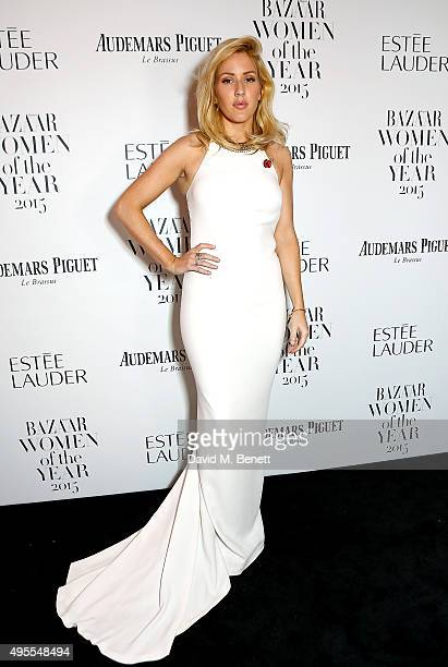 Singer Ellie Goulding attends the Harper's Bazaar Women of the Year Awards 2015 at Claridges Hotel on November 3 2015 in London England