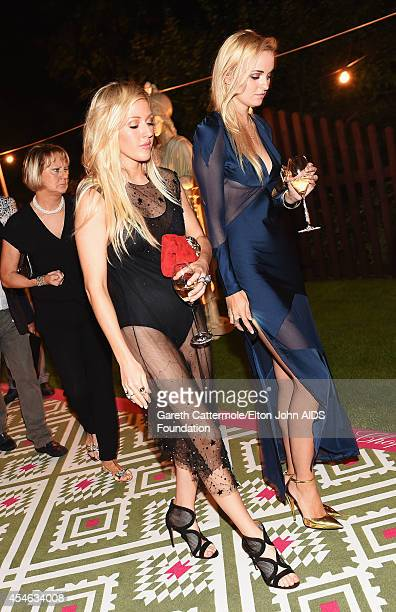Singer Ellie Goulding attends the Woodside End of Summer party to benefit the Elton John AIDS Foundation sponsored by Chopard and Grey Goose at...