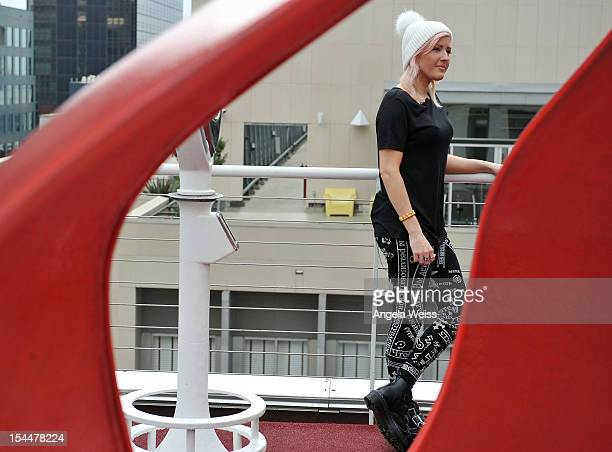 Singer Ellie Goulding films a VEVO GO Show presented by Starburst at The Standard Hotel on October 20 2012 in Los Angeles California