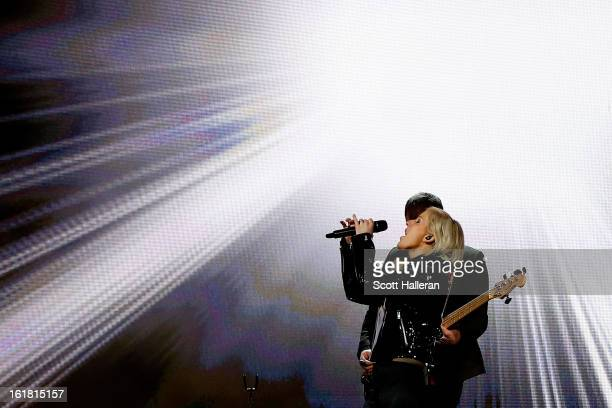 Singer Ellie Goulding performs during All-Star Saturday Night part of 2013 NBA All-Star Weekend at the Toyota Center on February 16, 2013 in Houston,...