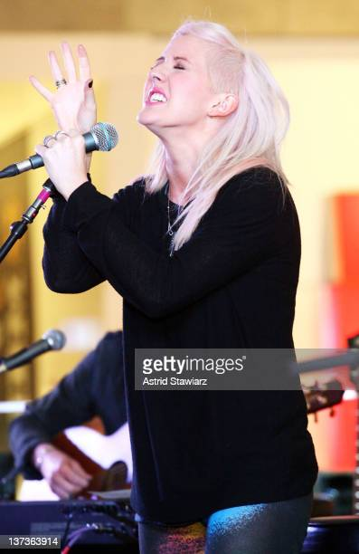 Singer Ellie Goulding performs during JetBlue's Live From T5 Concert Series Presents at JFK Airport on January 19 2012 in New York City