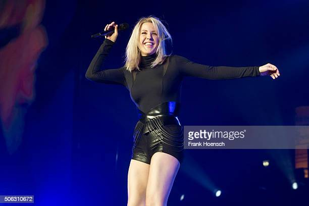 Singer Ellie Goulding performs live during a concert at the Max-Schmeling-Halle on January 22, 2016 in Berlin, Germany.
