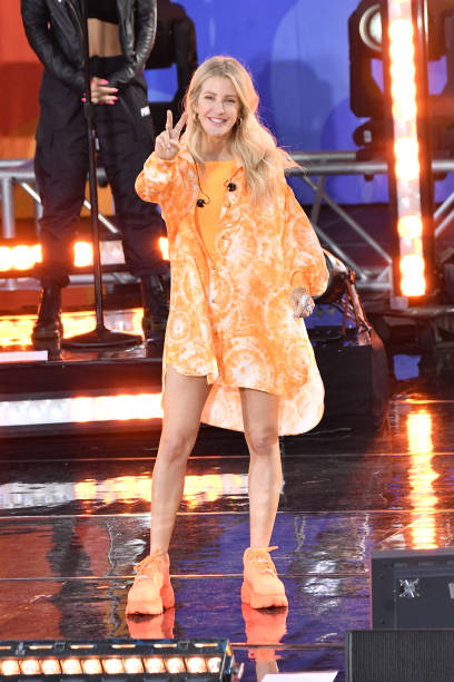"""NY: Ellie Goulding Performs On ABC's """"Good Morning America"""""""