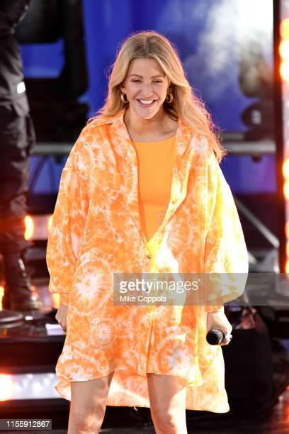 Singer Ellie Goulding performs on ABC's Good Morning America at SummerStage at Rumsey Playfield Central Park on June 14 2019 in New York City