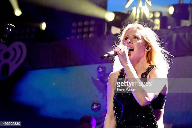 Singer Ellie Goulding performs onstage during 1061 KISS FM's Jingle Ball 2015 presented by Capital One at American Airlines Center on December 1 2015...