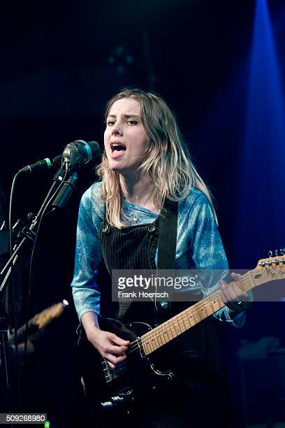 Singer Ellie Rowsell of Wolf Alice performs live during a concert at the Postbahnhof on February 9 2016 in Berlin Germany