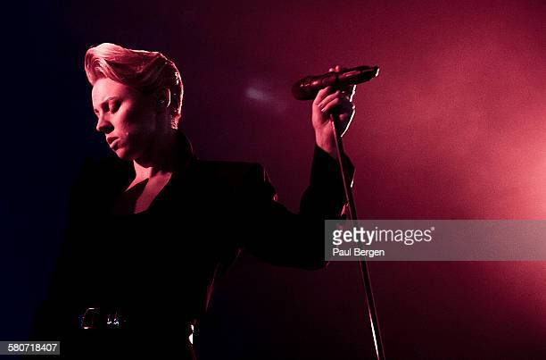 Singer Elly Jackson of electro band La Roux performs on stage at Lowlands festival 2015 Biddinghuizen Netherlands 21 August 2015