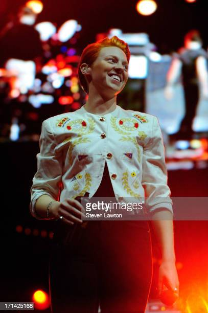 Singer Elly Jackson of La Roux performs at the 17th annual Electric Daisy Carnival at Las Vegas Motor Speedway on June 23 2013 in Las Vegas Nevada