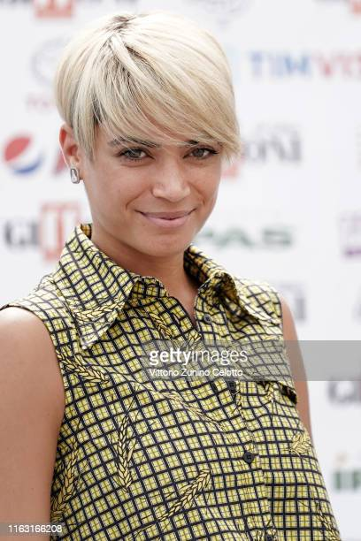 Singer Elodie attends Giffoni Film Festival 2019 on July 20 2019 in Giffoni Valle Piana Italy
