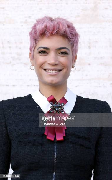 Singer Elodie Di Patrizi attends 'Non C'e' Campo' photocall on October 23 2017 in Rome Italy