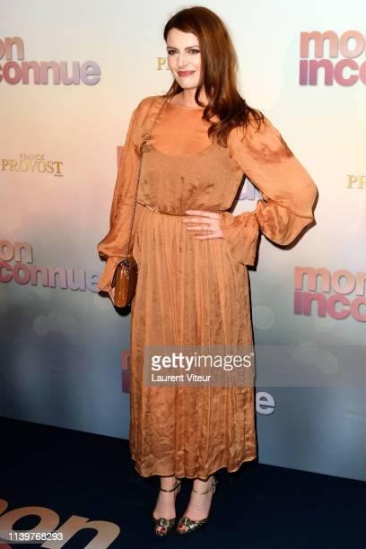 Singer Elodie Frege attends Mon Inconnue Premiere at Cinema UGC Normandie on April 01 2019 in Paris France