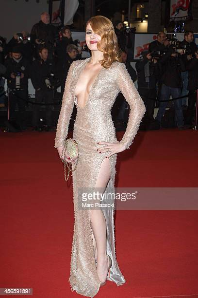 Singer Elodie Frege attends the 15th NRJ Music Awards at Palais des Festivals on December 14 2013 in Cannes France