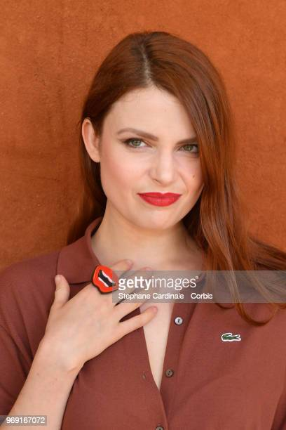 Singer Elodie Frege attends the 2018 French Open Day Twelve at Roland Garros on June 7 2018 in Paris France
