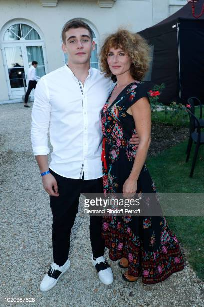 Singer Elsa Lunghini and her son actor Luigi Kroner attend the 11th Angouleme FrenchSpeaking Film Festival Day One on August 21 2018 in Angouleme...