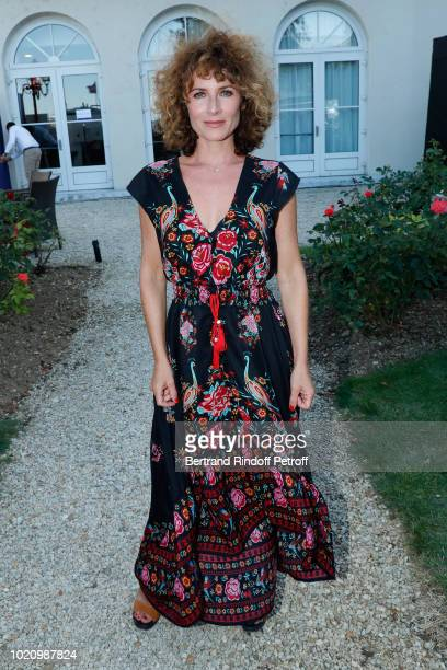 Singer Elsa Lunghini attends the 11th Angouleme FrenchSpeaking Film Festival Day One on August 21 2018 in Angouleme France