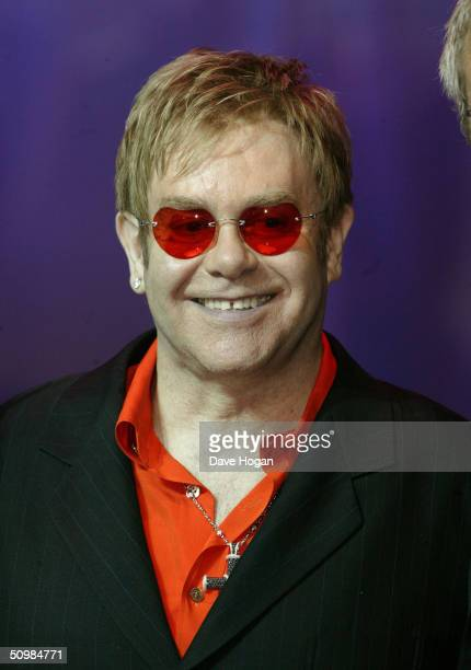 """Singer Elton John launches """"Billy Elliott - The Musical"""" at the Royal Acedemy of Music on June 22, 2004 in London."""