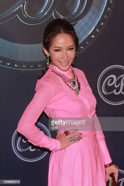 Singer Elva Hsiao attends wedding banquet of Coco Lee and Bruce Rockowitz at Shaw Studio on October 28 2011 in Hong Kong