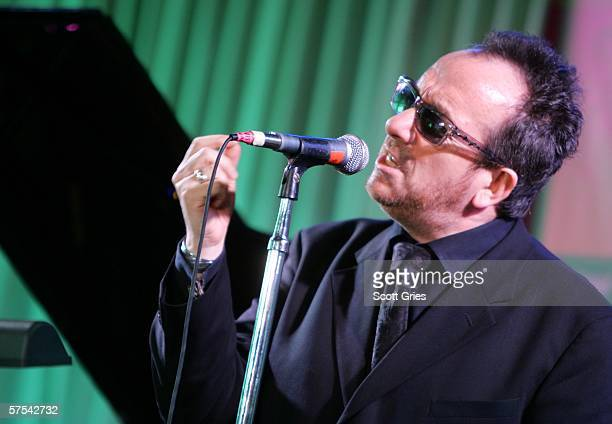 Singer Elvis Costello performs at the Tribeca/ASCAP Music Lounge at the Canal Room May 5, 2006 in New York City.