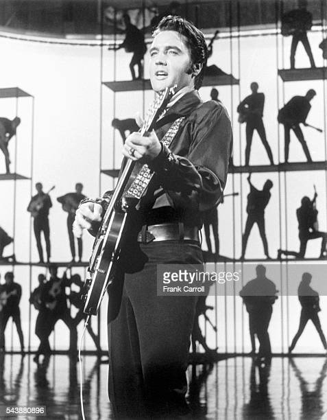 Singer Elvis Presley records a special program for NBC to be diffused in December 1968